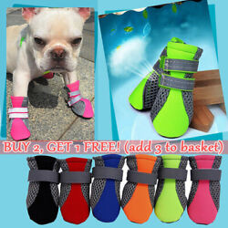 4PCS Pet Small Dog Non Slip Breathable Shoes Puppy Boots Paw Protection Booties $7.88