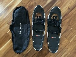 "New Pexmor 30"" Snowshoes w Carrying Bag. Adjustable Shoe Size 10 14 $65.00"
