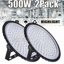 2X 500W UFO LED High Bay Light Shop Lights Fixture Factory Commercial Lighting