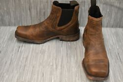 Ariat Midtown Rambler Leather Western Boots Men#x27;s Size 10D Barn Brown $60.80