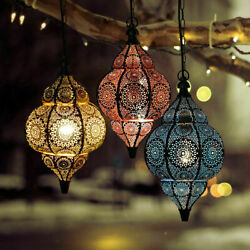 Modern Turkish Hanging Lamps Handmade Moroccan Ceiling Lights Home Lantern Gifts $59.99