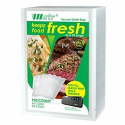 100 Quart Vacuum Sealer Bags Commercial for Food Saver Meal Prep or Sous Vide