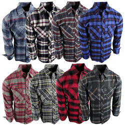 Flannel Plaid Shirt Mens Western Button Pockets 8 New Cool Colors Long Sleeve c $18.95
