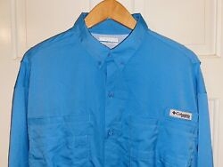 Mint Size Large Men's COLUMBIA PFG Long Sleeve Button Up Shirt FISH L $16.99