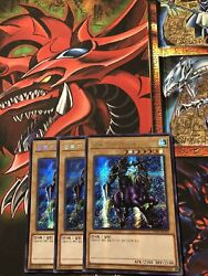 Yugioh x3Gaia The Fierce Knight SECRET PARALLEL PRISMATIC RARE 15AX MINT $2.00