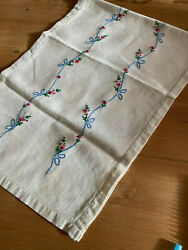 Vintage Table Runner with Embroidery $14.00