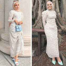 Elegant Women Casual Long Sleeve Maxi Dress Ladies Holiday Cocktail Party Gown C $57.14