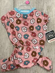 WAG A TUDE Pink quot;DONUTSquot; Pajamas Puppy Dog SMALL NWT $16.50