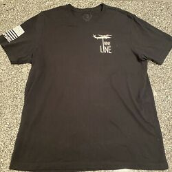 Nine Line Flag Shirt Black Extra Large Men's $7.99