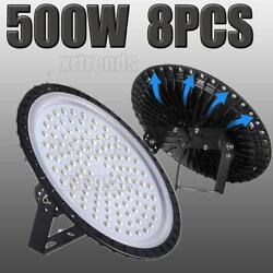 8X 500W UFO LED High Bay Light Shop Lights Bulb Warehouse Commercial Lighting