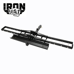 IRON FIST Steel Motorcycle Scooter Dirt Bike Carrier Hauler Hitch Mount Ramp $124.85