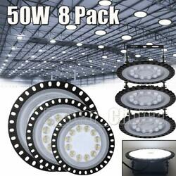 8X 50W 50 Watt UFO LED High Bay Light Shop Lights Commercial Lighting Fixture