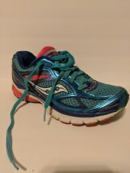 Womens Saucony Guide 7 Running Shoes Blue Pink 10227 3 Colorful Size 6 $24.00