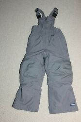 BOYS#x27; SIZE 4 LANDS#x27; END GRAY WINTER OVERALL SNOWPANTS $13.99