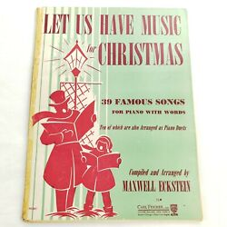 Let Us Have Music For Christmas for Piano Duet 1947 Book Songs amp; Sheet Music $9.99