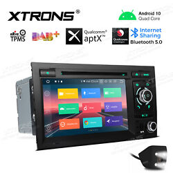 CAM 7quot; Android 10 Car DVD Player Stereo Radio GPS Navi For Audi A4 S4 B6 B7 RS4 $259.99