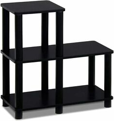 Side Table 3 Tier Nightstand Sofa Accent End Table Living Room Black $42.88