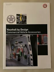 Genuine Vauxhall Commercial Accessories Sale And Price List Brochures NEW