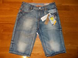 NEW NWT VINGINO HIGH END DESIGNER BOYS JEAN SHORTS EURO BOUTIQUE SZ 14 16