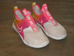 EUC Nike Flex Runner Sun Girls Pull on Shoes. Pink Yellow. #CN8484 001. Sz 12.5C $26.99