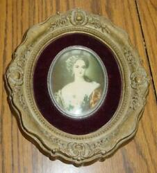 Vintage Cameo Creations Victorian Wall Hanging quot;Lady Dowerquot; Lawrence Portrait $9.99