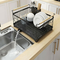1 Tier Stainless Steel Kitchen Shelf Dish Drying Rack Storage Tableware Stand $28.43
