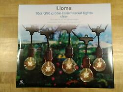 Three 3 Sets of Ten 10 G50 Globe Commercial Lights 13.5 feet Length each