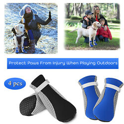 4Pcs Pet Dog Mesh Boots Breathable Anti slip Small Puppy Shoes Protective Paw US $7.59
