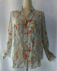 Anthropologie 12 of 52 Conversations Floral Daisy Blouse NWT 14 L $32.99
