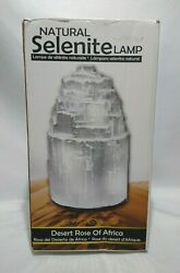 Natures Artifacts Natural Selenite Crystal Lamp Medium 10quot; T 5 6 lbs Morocco NOB $19.99