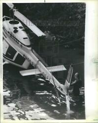 1984 Press Photo Helicopter accident canal chicago RRR54603 $19.99