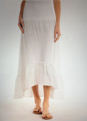 Fresh Produce Joanna Convertible Skirt Dress Large NWT $84 White Beach New L $25.79