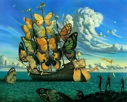 Print Ship with Butterfly Sails by Salvador Dali $7.99