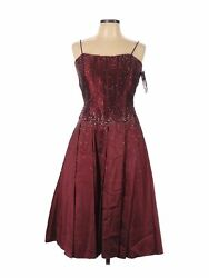NWT Sean Collection Women Red Cocktail Dress L $22.99
