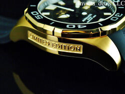 Invicta Men#x27;s 52mm GRAND DIVER Automatic LIMITED EDITION BLACK DIAL Gold Watch $99.89