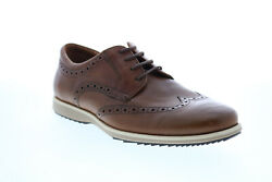 Geox U Blainey Mens Brown Leather Oxfords amp; Lace Ups Wingtip amp; Brogue Shoes $40.99