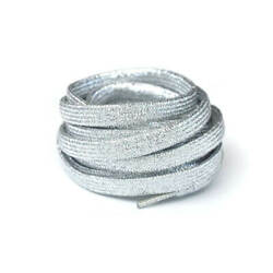 Glitter Metallic Silver Sparkle Shoe String Colorful Shoe lace for Sneakers $7.99