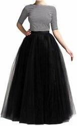 WDPL Wedding Planning A line Maxi Long Tulle Skirt for Women Black Size 4.0 9D $12.20