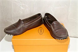 Luxurious Mocassin Without Shoelaces Brown Leather Tod#x27;s Gommini Size 36 Boxed $109.29