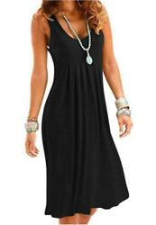 Camisunny Casual Loose Summer Dresses for Women Fashion 01 Black Size Small uS $9.99