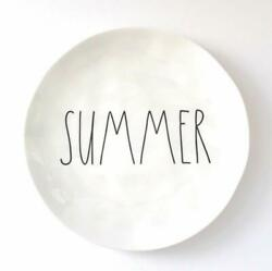 Rae Dunn quot;SUMMERquot; 10 Inch White Melamine PlateNew with Tag $9.99