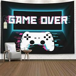 80x60 Inches Gaming Controller Game Over Wall Art Tapestries Hanging Decorative $20.02