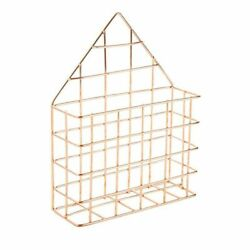 Juvale Mail Holder Wire Metal Wall for Office Home Entryway 6 x 7.6 x 2.1 inch $8.99