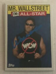 WCW WWE WWF MR. WALL STREET TOPPS NWO SIGNED AUTOGRAPH TRADING CARD AUTO IRS A $9.99
