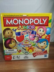 Monopoly Junior Party 2011 Edition Fast Dealing Party Themed Board Game NIB $34.95
