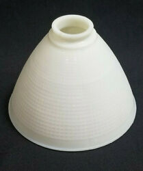 VINTAGE WAFFLE PATTERN WHITE GLASS CEILING LAMP SHADE COVER $15.00