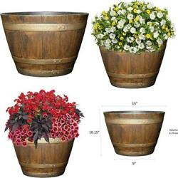 Classic Home And Garden 72 Whiskey Barrel 15quot; Distressed Oak $22.26
