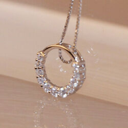 Fashion 925 Silver Necklace Pendant for Women White Sapphire Wedding Jewlery $1.59