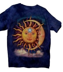 Sun And Moon The Mountain Blue L T Shirt A 9 $8.50