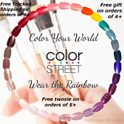 COLOR STREET Nail Strips Retired* Exclusives* Rare* Free Tracked Ship on 4 $10.49